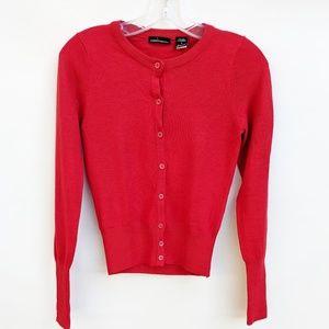 Moda International Silk Cashmere Red Cardigan, S